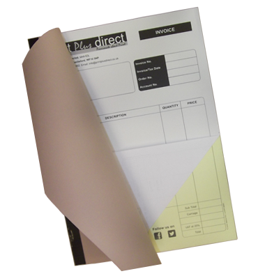 Personalised Invoice Books Part NCR - Personalised carbon copy invoice books