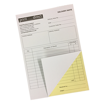"""10 x A5 PERSONALISED /""""DELIVERY NOTE/"""" PRINTED NCR PADS 2 Part"""